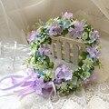 2016 Мода Корейский Стиль Свадебный Венок Ручной Цветок Цветочные Цветочной Гирляндой Короны Невесты Свадебные Украшения Волос Accessorries