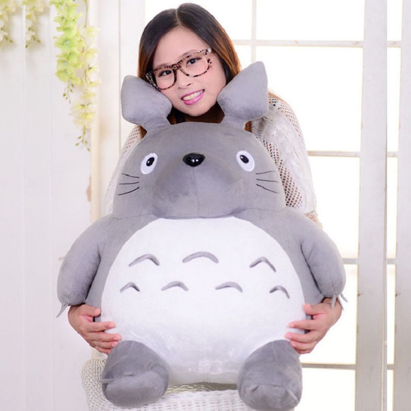 Image 5 - Totoro Plush Toys Soft Stuffed Animal Cartoon Pillow Cushion Cute Fat Cat Chinchillas Children Birthday Christmas Gift-in Stuffed & Plush Animals from Toys & Hobbies