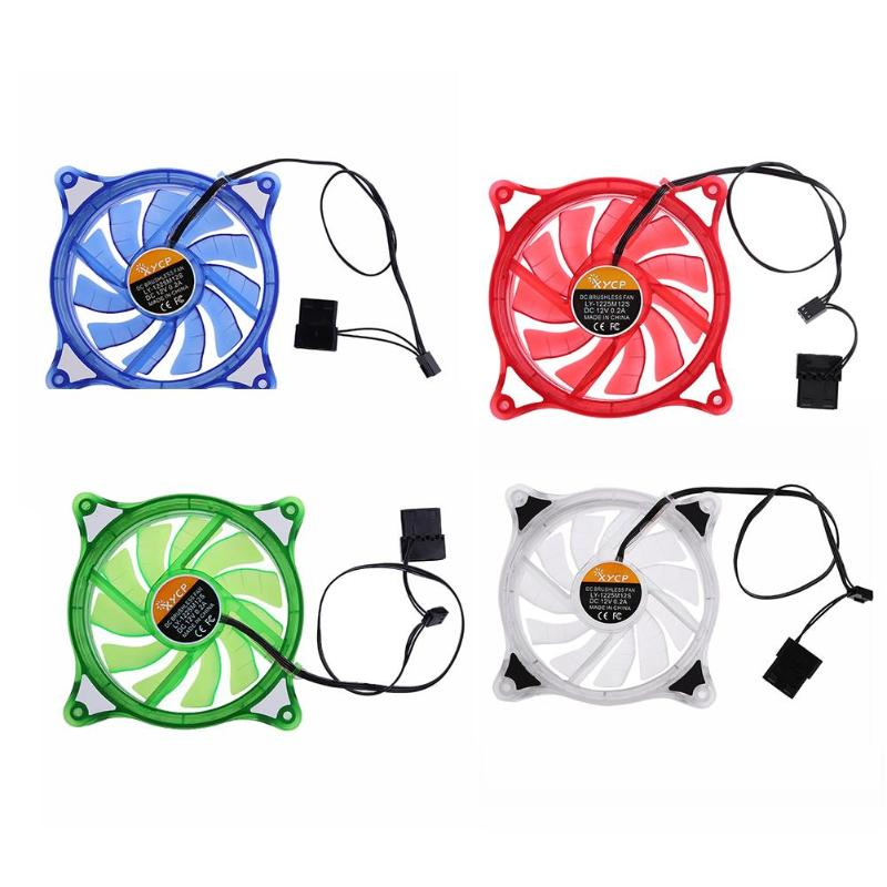 12cm PC Computer Case Cooling Fan LED RGB Mute Halo Ring Hydro Bearing Fan free delivery original afb1212she 12v 1 60a 12cm 12038 3 wire cooling fan r00