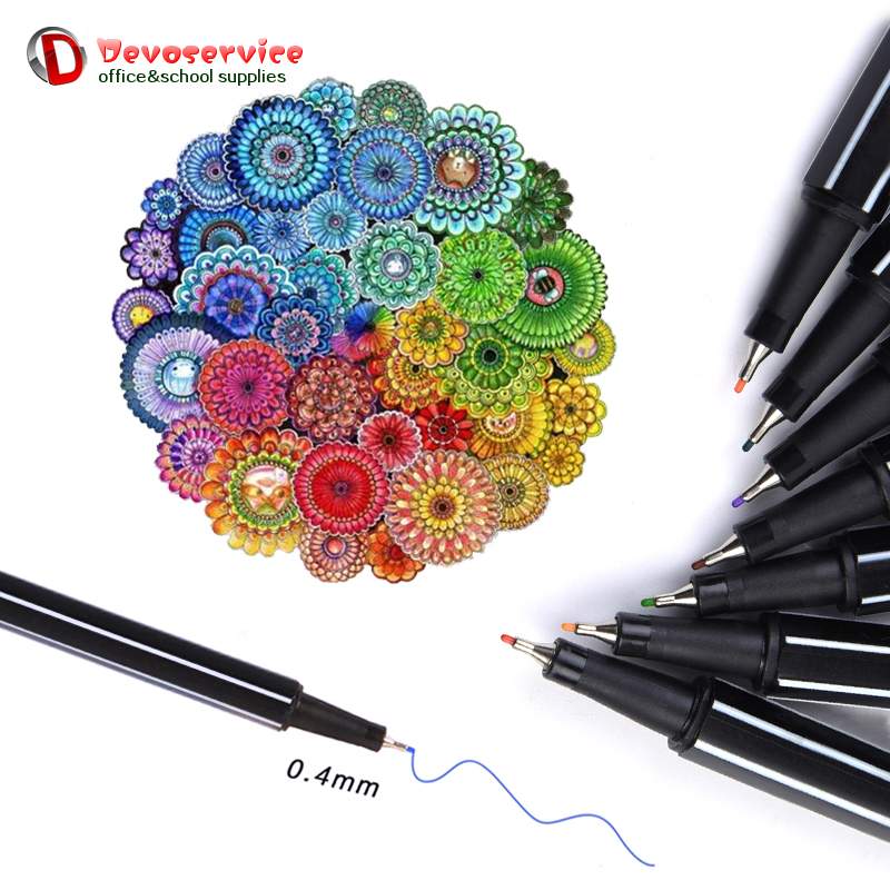 24/30/36 Color Gel Pen Fineliner Pen Art Markers Water Based Ink Neon Sketch Drawing Colored Pens Draw Fine School Stationery пила stihl ms 241 c m 16