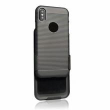 2 в одном XS MAX чехол спортивный пояс клип телефонные чехлы для iphone XS MAX X 10 6s 7 8 плюс 5S крышка подставки держатель жесткий чехол