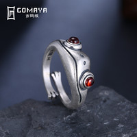 GOMAYA Real 925 Sterling Silver Frog Vintage Rings Flower Fine Jewelry 925 Sterling Silver Jewelry Animal