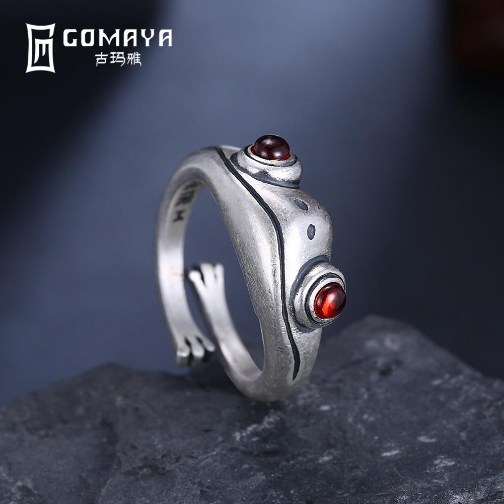 GOMAYA925 Sterling Silver Frog Retro Personality Creative Ring Jewelry Sterling Silver Jewelry Animal Ring Female
