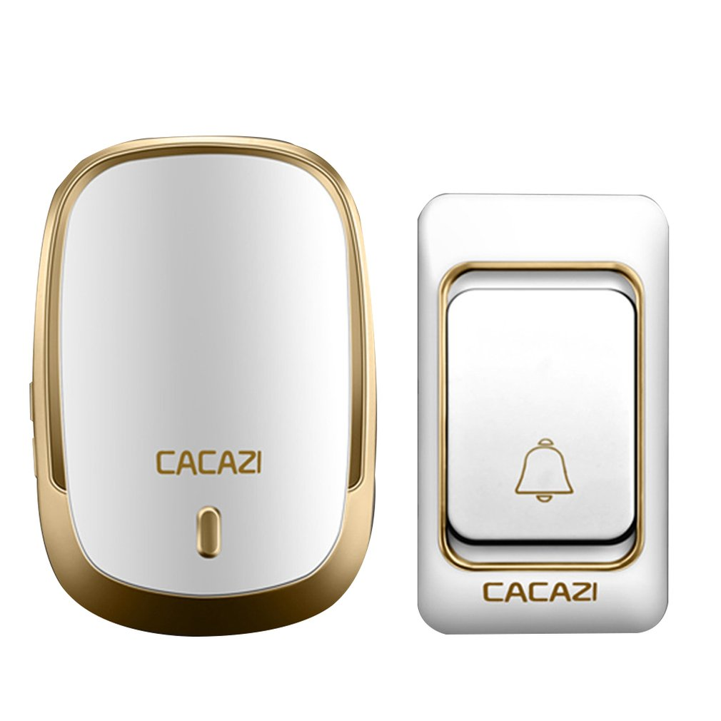 Cacazi K01 Wireless Doorbell Waterproof Battery Button 300M Remote Receiver Home Cordless Door Dell Chime 1 Button 1 ReceiverCacazi K01 Wireless Doorbell Waterproof Battery Button 300M Remote Receiver Home Cordless Door Dell Chime 1 Button 1 Receiver