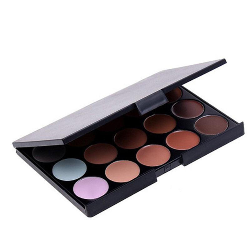 10*15cm Natural Professional Concealer Palette 15 Colors Makeup Foundation Facial Face Cream Palettes Cosmetic Make Up Color