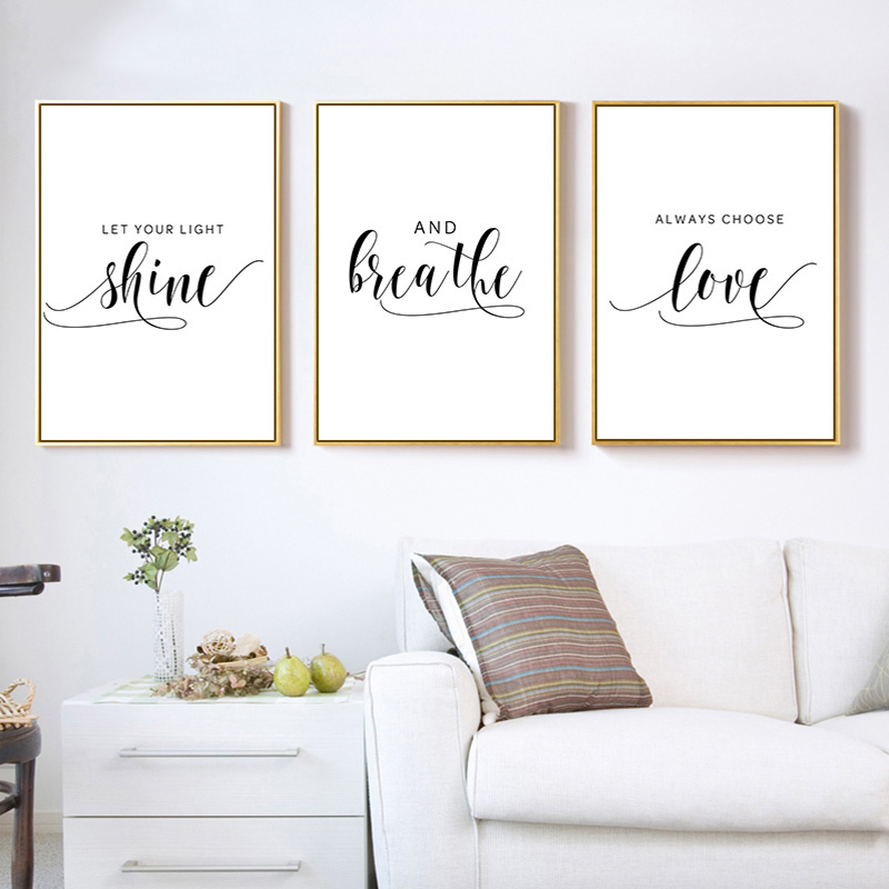 Inspiration Quote Wall Canvas Print Wall Decoration Positive Quotes Poster Art Garden Poster Home Garden