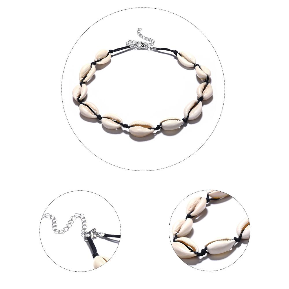 SexeMara Shell Necklace European and American Style Handmade Shell Short Clavicle Choker Necklace Bohemian Jewelry Gift in Choker Necklaces from Jewelry Accessories
