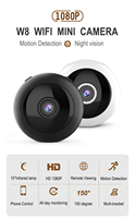 W8 Mini Wireless WiFi 1080P Camera Night Vision Motion Detection Video Recorder Camcorder Webcam Hometic Security Camera