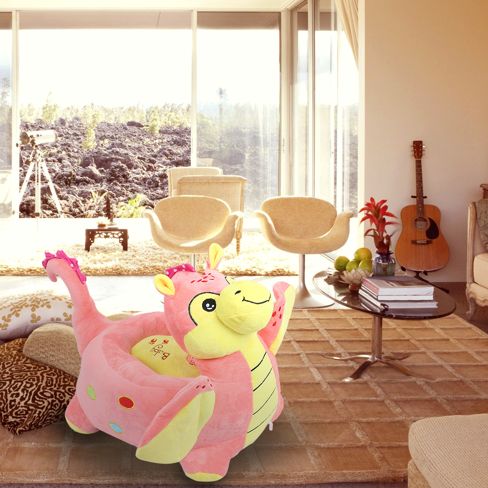New Cartoon Children Small Sofa Chair Plush Dinosaur Stuffed Toy Stool Children Chairs H ...