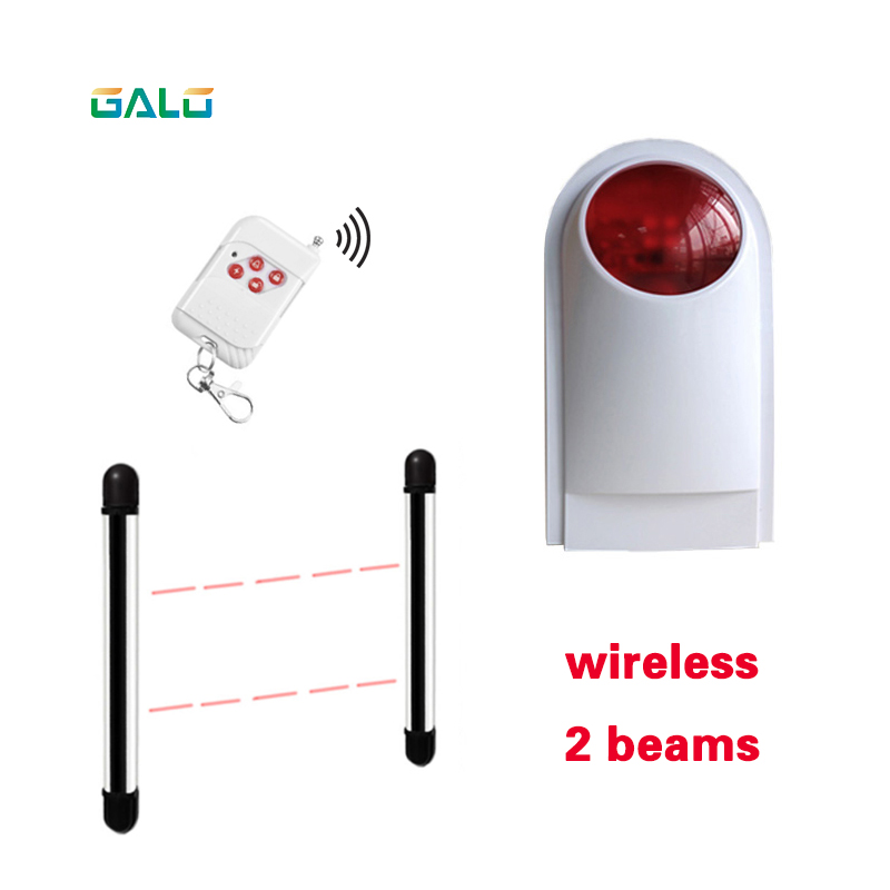 New Wireless External Flash LED strobe Light siren sensor Alarm Work with Safety beam , Home Security Voice Burglar Smart Alarm personal guard safety security siren alarm with led flashlight white 2 cr2032