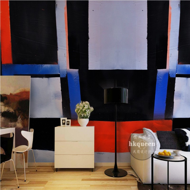 Free Shipping Abstract black white collision color geometric pattern TV  backdrop 3D custom bedroom studio mural. Online Get Cheap Tv Studio Equipment  Aliexpress com   Alibaba Group