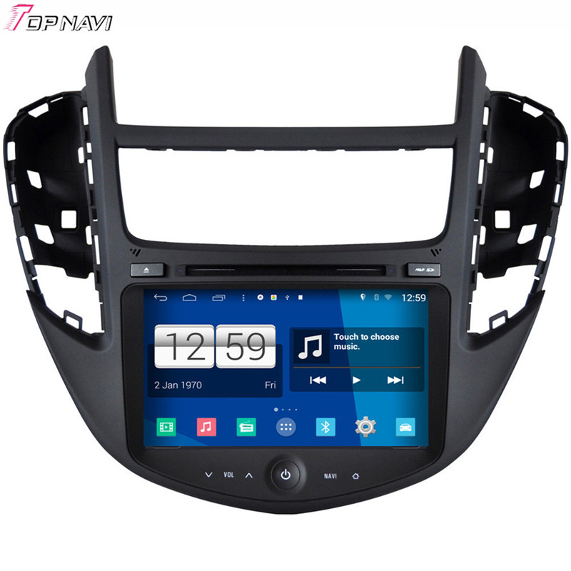 Top Free Shipping 8'' Quad Core S160 Android 4.4 Car DVD GPS For Chevrolet Trax 2013 With Stereo Radio Video Mirror Link BT Wifi