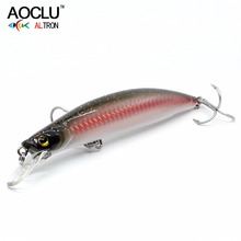 2018 AOCLU NEW LURE wobblers 120mm 23g suspending Hard Bait Minnow Crank fishing lure VMC hooks 6 colors tackle 2018 aoclu new wobblers 100mm 12 5g sinking hard bait minnow depth 1m fishing lure vmc hooks 6 colors tackle quality hot sale