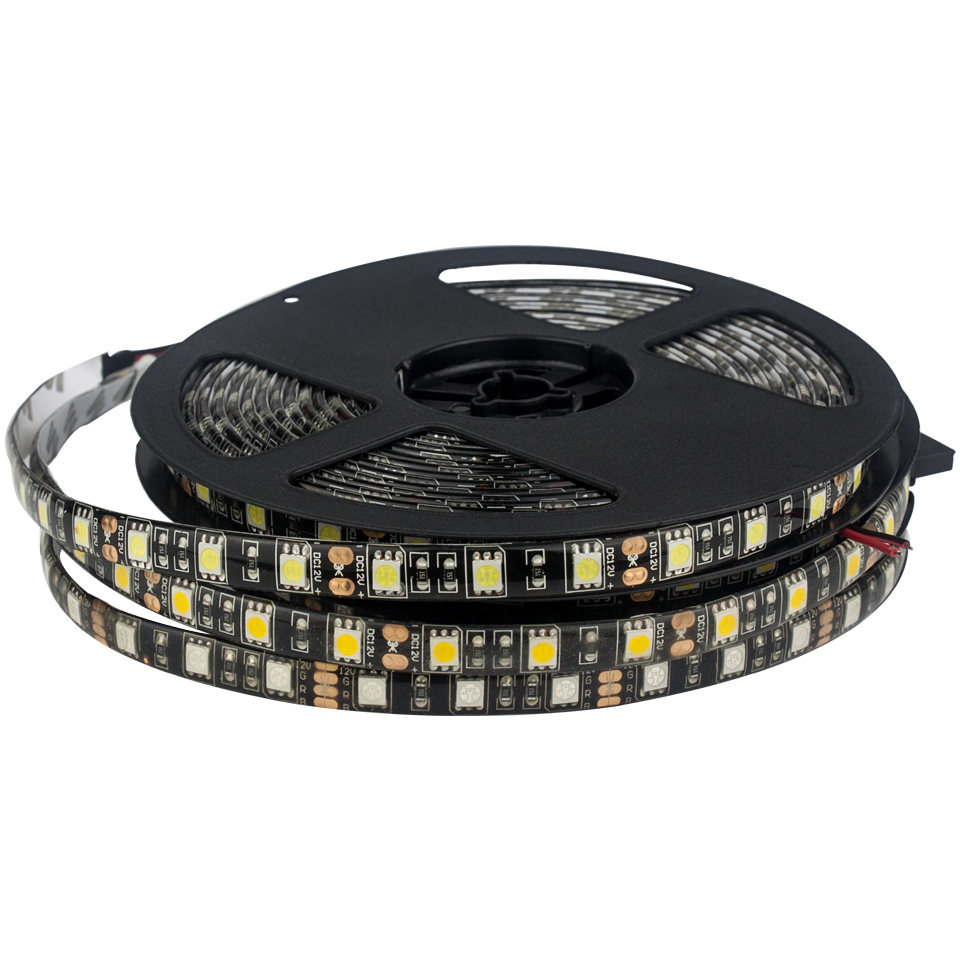 5M SMD 5050 RGB Led Strip Light Waterproof 60Leds/M DC12V Flexible Led String Light Ribbon Tape White/Warm White/Red/Green/Blue