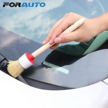 Полная чистка автомобиля щетка мягкая щетина деревянная ручка для внутренней приборной панели диски колеса кондиционер двигатель авто Уход стирка
