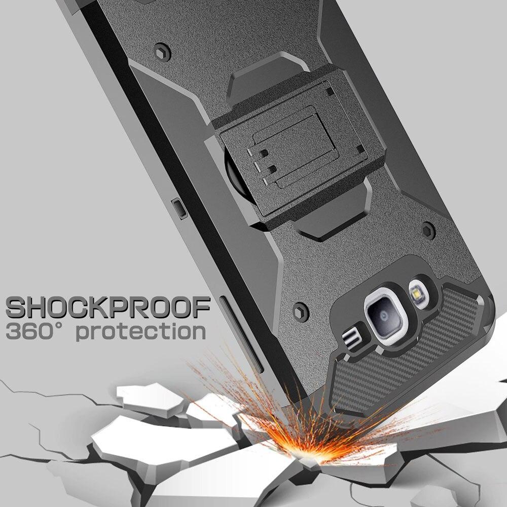 Armor Case Kickstand Belt Clip Holster Cover För Samsung Galaxy J1 - Reservdelar och tillbehör för mobiltelefoner - Foto 2