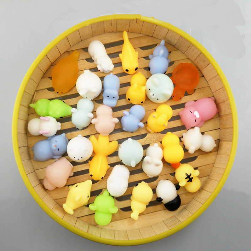 20pcs/lot Squishy Toys DIY Phone Accessories Silicone Fidget Hand Rising Cartoon Animal Squeeze Toy Styles Random Free Shipping pet great dane pet toys rare old styles dog lovely animal pets toys lot free shipping