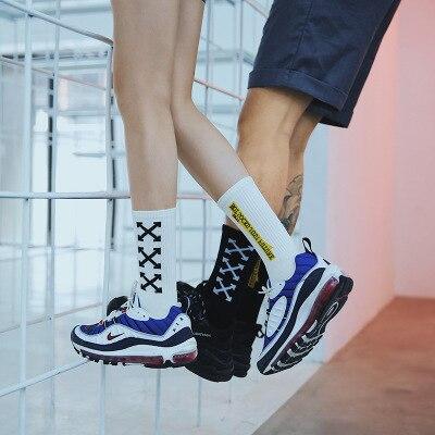 1 Pair Men Women Cotton   Socks   High Thigh Hip Hop Casual Funny   Socks   Sports   Socks   Cycling   Socks   Male Sox Men Gift