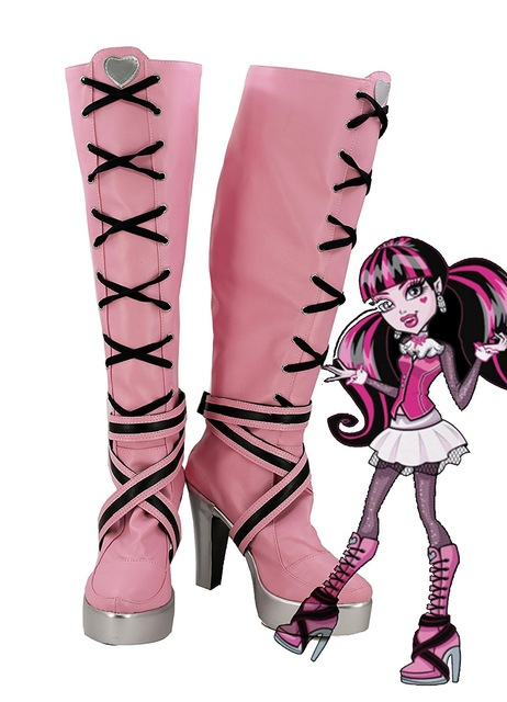US $47.06 11% OFF|Monster High Draculaura Cosplay Boots Shoes Custom Made Any Size Custom Made European Size in Shoes from Novelty & Special Use on