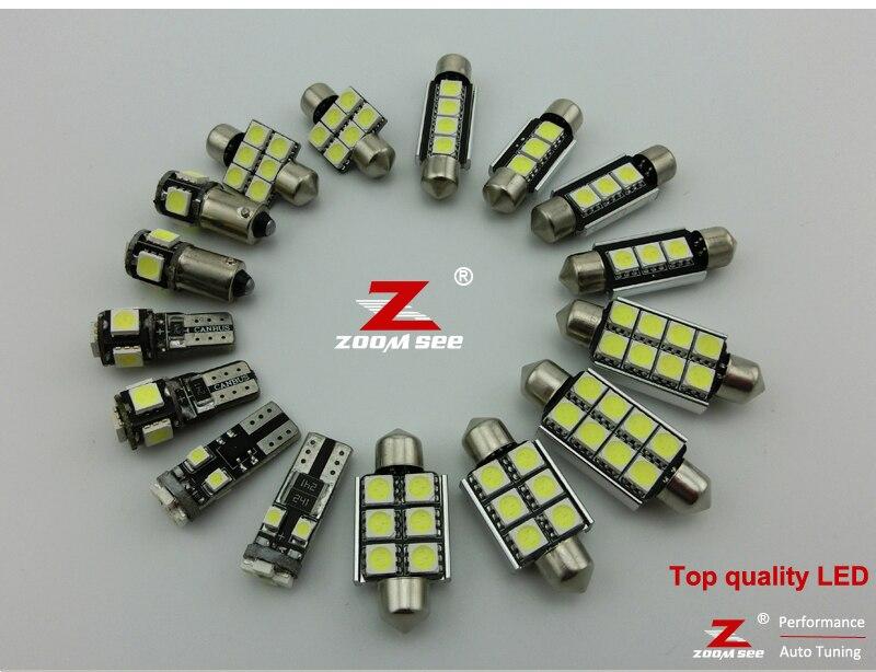 23 шт. x ошибок светодиодные лампы внутренних дел плафон комплект Вышивка Крестом Пакет для Audi A8 S8 D3 Quattro(2003-2009