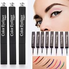 7 color white eyeliner waterproof Pen Precision Long-lasting Liquid Eye Liner Smooth Make Up Tools 36H red black blue Eyeliner