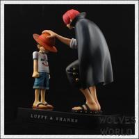 Free Shipping 17cm Genuine Original edition BANDAI Tamashii One Piece Luffy and Shanks action figures