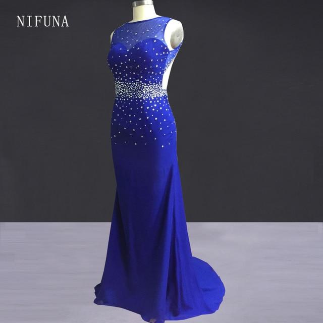 robe de soiree Long Party Dress Elegant Backless Royal Blue Mermaid Prom  Dresses 2018 Sexy Black Girl Prom Dress gala jurken 303a6ea270d9