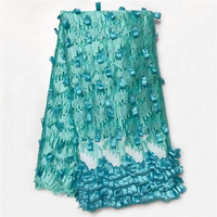 Fashionable 3D African Swiss Voile Lace African Lace Fabric Net Lace Fabric Embroidered Organza Fabric With