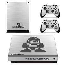 Mega Man 11 Skin Sticker Decal For Microsoft Xbox One X Console and Controllers Skins Stickers for Xbox One X Skin Vinyl(China)