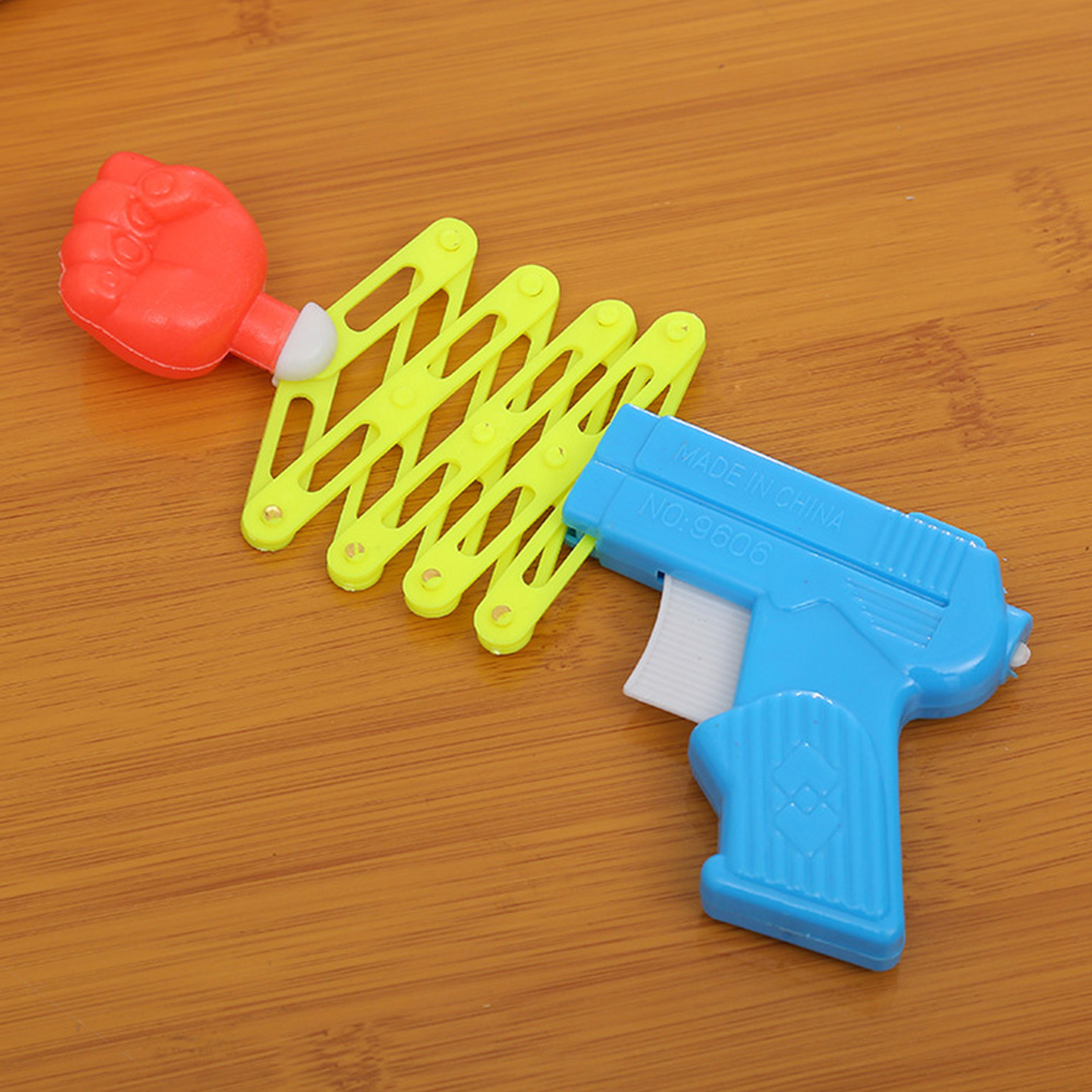 Retractable Fist Shooter Trick Toy Gun Funny Child Kids Plastic Party Festival Gift Just For Fun Funny Elastic Telescopic Fist