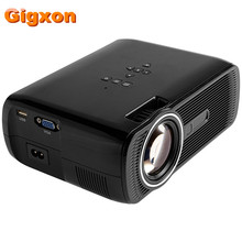 Gigxon-g80 portátil proyector 1000 lúmenes apoyo 1920×1080 p tv analógica led proyector mini proyector para el hogar cine digital tv