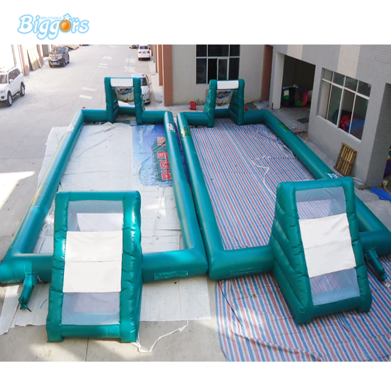 Customized Football pitch inflatable soap stadium giant soccer course for kids inflatable football stadium kids play game inflatable football pitch inflatable soccer field for sale