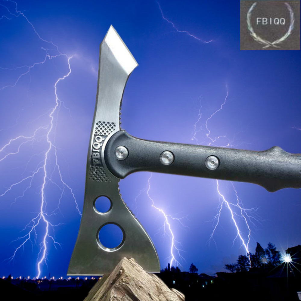 Tactical axe High Quality Tomahawk Outdoor Hunting Camping Axe Fire <font><b>Axes</b></font> <font><b>Tool</b></font> Mountain-cutting Hatchet Dropshipping image