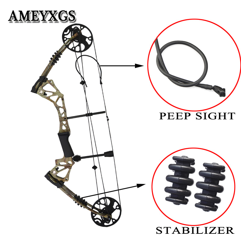 1set 70-15 lbs Draw Weight Hunting Compound Bow Adult Sports Shooting Training Outdoor Archery Accessories