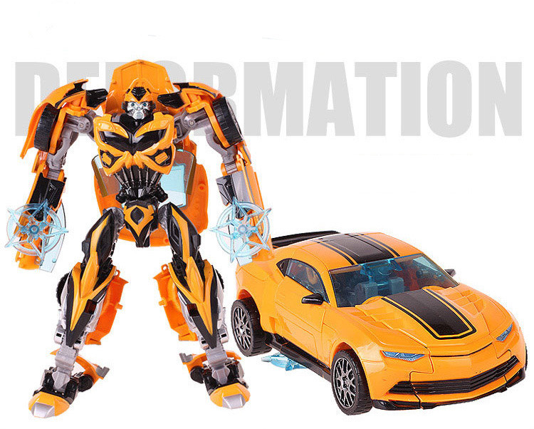 Cool Robot Car Transformation Toys Kids Bumblebee Toy Anime Transformation Robot Action Figure Mobel Christmas Gift For Children (3)