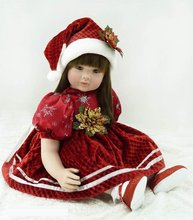 22 inch 55cm Silicone baby reborn dolls Children's toys christmas girl