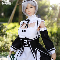 Cosdoll 158cm/165cm Japanese Anime Love Doll for Man Masturbation Realistic TPE Silicone Sex Doll with Big Breasts Free shipping