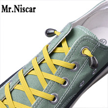 1 Pair New Design No Tie Shoelaces Metal Water Droplets Style Lazy Elastic Shoe Laces Flat for Adult Kids Sneaker 21 Colors