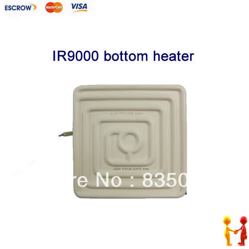 Original IR9000 bottom ceramic heater ,Elstein bottom heating plate 1000W,white,110V/220V for option dia 400mm 900w 120v 3m ntc 100k round tank silicone heater huge 3d printer build plate heated bed electric heating plate element