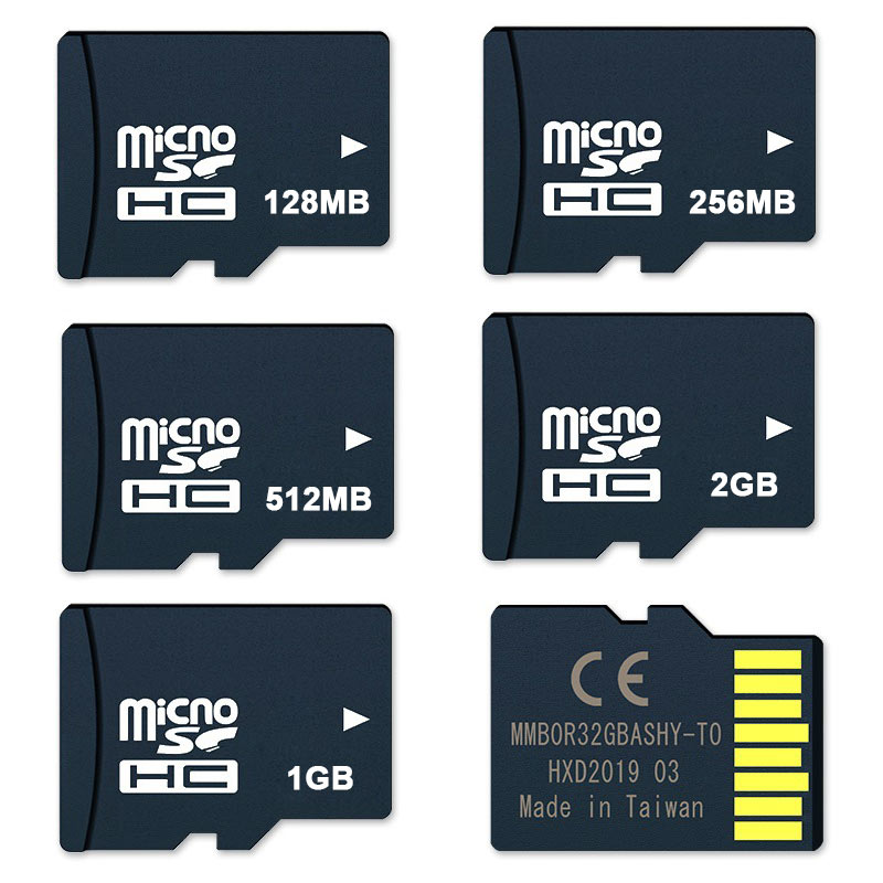 Carte mémoire promotionnelle 10 pièces 128 mo 256 mo 512 mo 1 GB 2 GB noir TF cartes TransFlash Micro numérique sécurisé SD Kaart 1G livraison directe