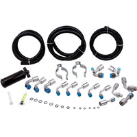 Air Conditioning Hose Kit Universal 134a O Ring Fittings Drier AC Hoses Kit