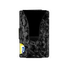 Colorido abstrato textura forjado fibra de carbono cartão titular negócio rfid bloqueio durável cartão carteira bolso