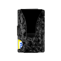 Colourfast Abstract Texture Forged Carbon Fiber Card Holder Business RFID Blocking Durable Cardcase Pocket Wallet