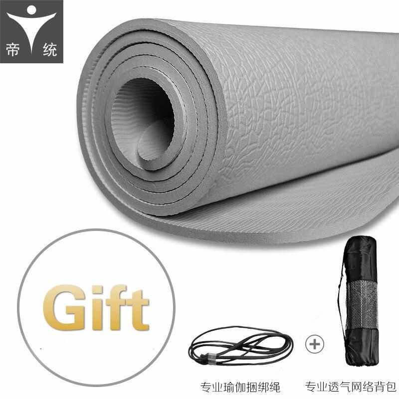 6mm longer POE yoga mat female male beginners non slip non smell spots mat 183CM x