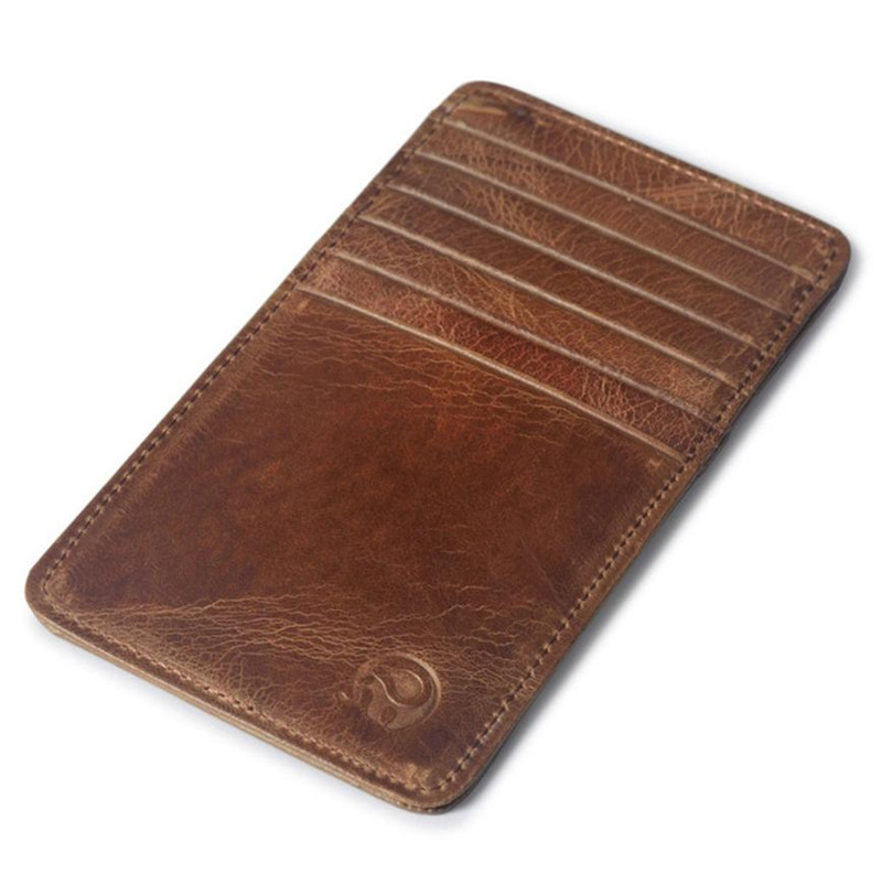 Pocket Leather long Card Case Exquisite Attractive Card Case ...