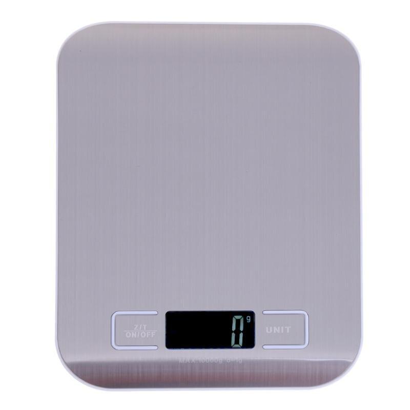 10 kg/1g balanza de cocina Digital LCD Escala electrónica de comida de acero inoxidable joyería de equilibrio de peso Libra