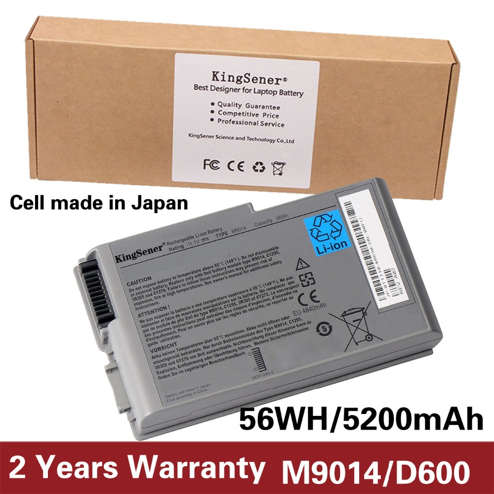 Japanese Cell KingSener New M9014 Battery For Dell Latitude D500 D505 D510 D520 D530 D600 D610 for DELL Inspiron 500m 510m 600m used look like new black laptop notebook keyboard 0pf236 nsk d5k01 9j n6782 k01 for dell latitude d520 d530 us