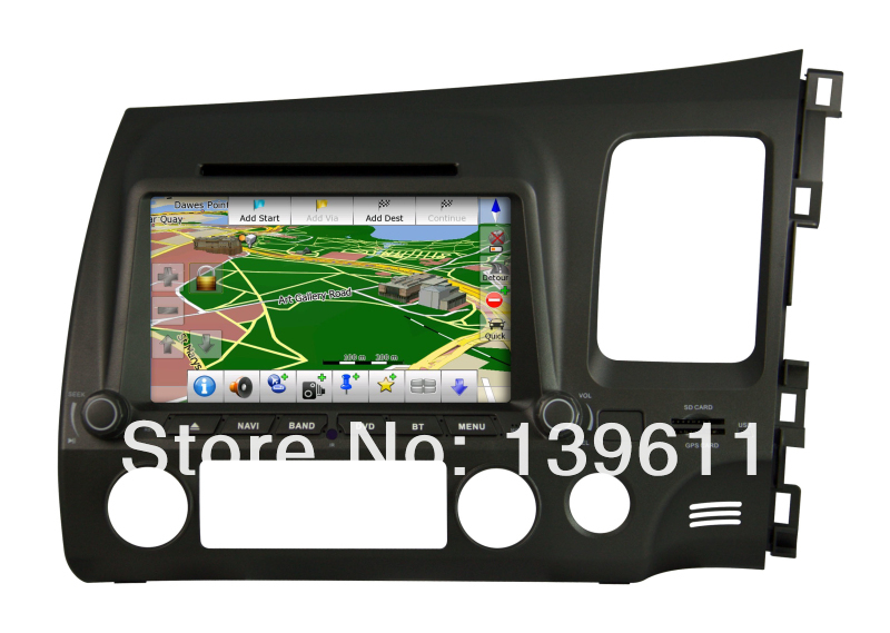 ZESTECH Car Auto Multimedia DVD Player for CIVIC DVD GPS player LHD with BT IPOD TV