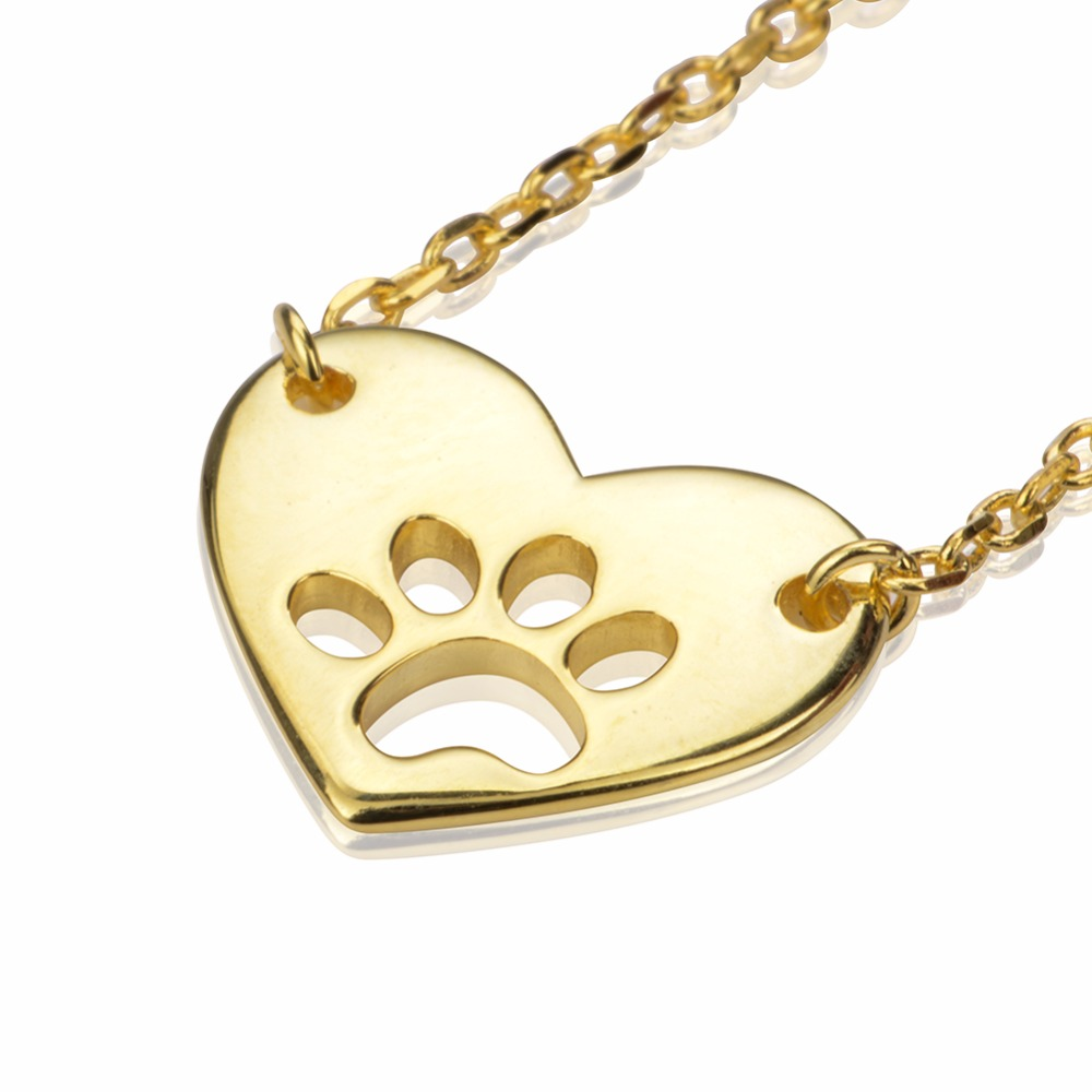 цены original dropshipping My sweet pet paw Love Necklace Girl 925 Sterling Silver Pendant Necklace For Women Fashion Jewelry Gifts