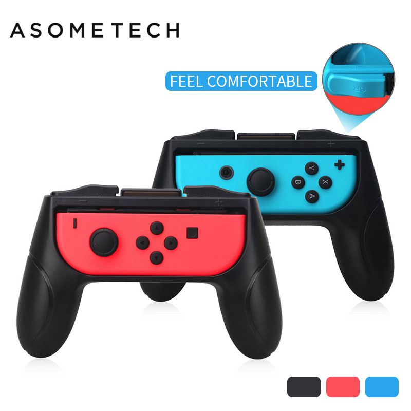 2Pcs Controller Grips Handle Case For Nintend Switch Nintendo NS NX Joy-Con Game Accessories 2 Sticks Console mobile Hold Stand